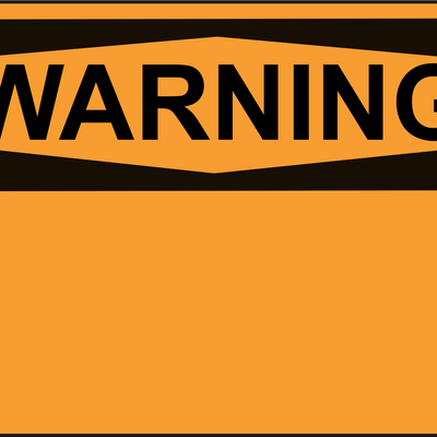 Png Download Blank Big Image Png - Compliancesigns Plastic Osha Warning Sign, 14 X 10 Transparent PNG Resolution 400x400 - Free Download
