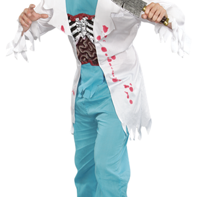 Zombie Doctor - Zombie Doctor Adult Mens Halloween Costume Standard Transparent PNG Resolution 400x400 - Free Download