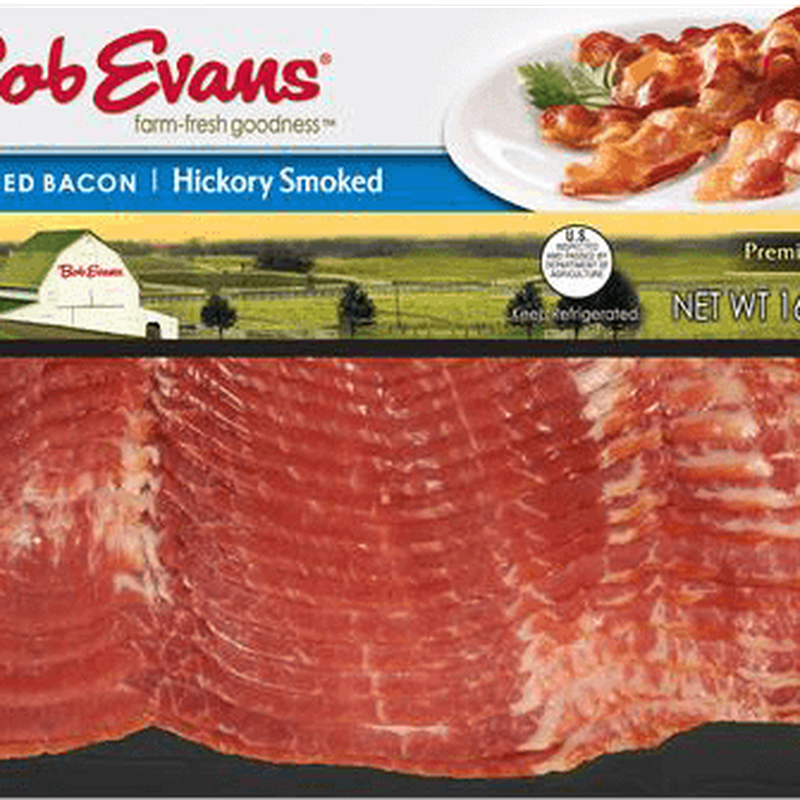 Bob Evans Hickory Smoked Bacon - Bob Evans Sandwich, Homestyle, Sausage & Cheese Transparent PNG Resolution 800x800 - Free Download